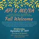 API & ME/SA Fall Welcome 2017
