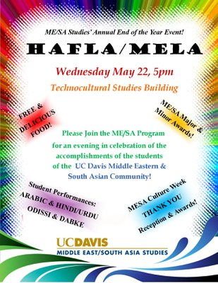 Hafla Mela Flyer — Middle East South Asia Studies
