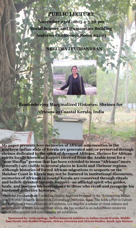 Remembering Marginalized Histories Shrines for Africans in Coastal Kerala, India
