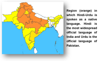 Hindi-Urdu spoken map